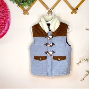 Genuine Kids 4T Sherpa collar vest